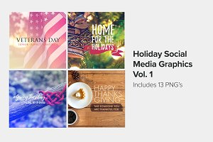 Holiday Social Media Graphics Vol. 1