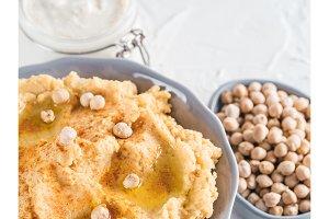 Hummus and tahini