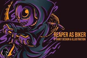 Reaper as Biker Illustration