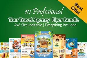 10 Tour Travel Flyers Bundle