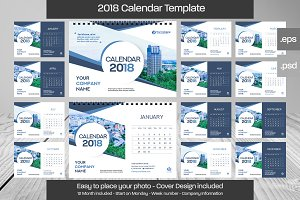 2018 DeskCalendar Template Design 01