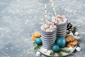 Hot cacao with marshmellows