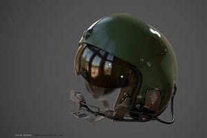 High Poly - Helmet Helicopter