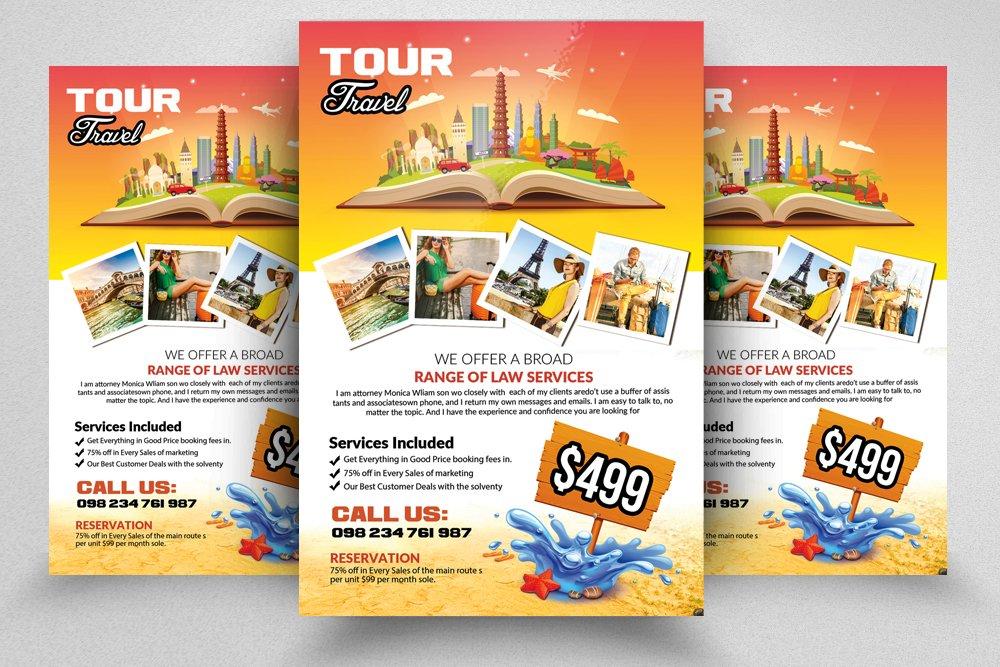 Tour Travel Flyer Templates Flyer Templates Creative Market