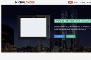 MICROLANDER -RESPONSIVE LANDING PAGE