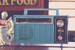 Blue Vintage Radio