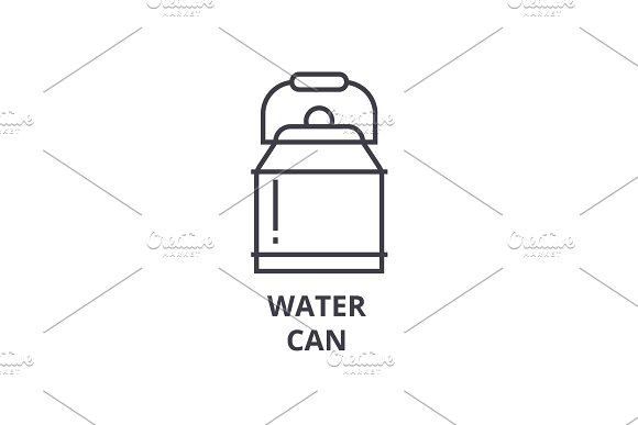 Water Can Line Icon Outline Sign Linear Symbol Vector Flat Illustration