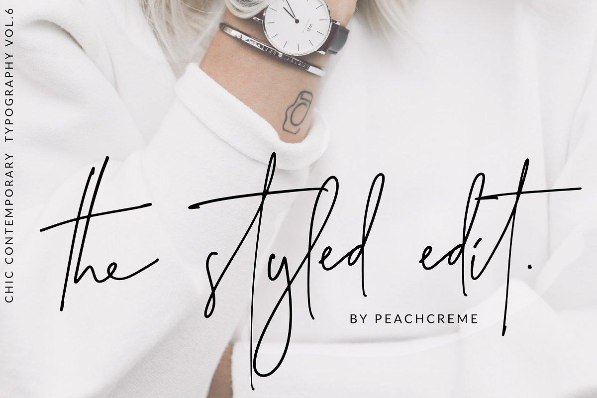 2aa44f2ed69 The Styled Edit- Chic Ligature Font ~ Script Fonts ~ Creative Market