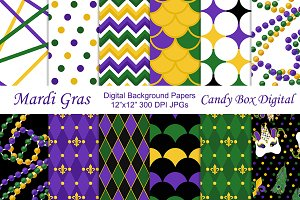 Mardi Gras Digital Papers