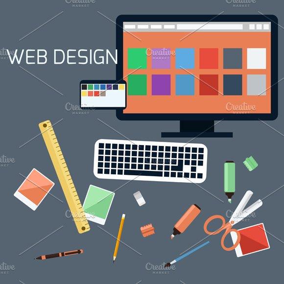 Web design. Program for design - Graphics