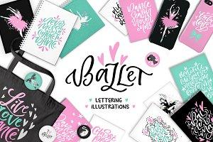 Ballet Lettering & Clipart