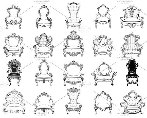 Bundle Of 20 Chairs Furniture Set