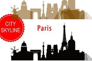 Paris SVG, France Vector, silhouette