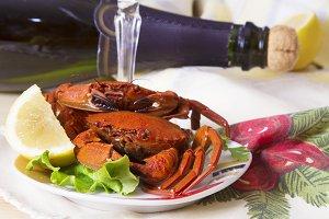 christmas food, seafood