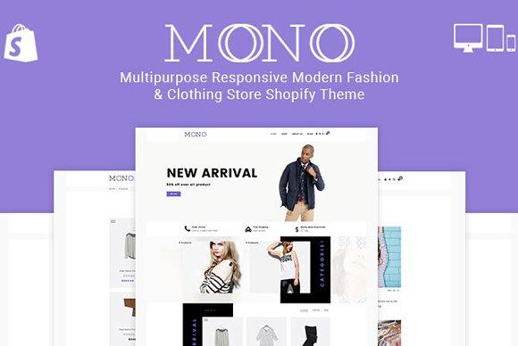 Mono Clothing Store Shopify Theme