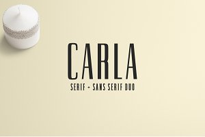 Carla Duo 8 Font Family Pack