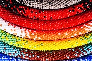 Beaded earrings - handmade jewelry
