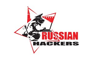 Russian Hackers vector logo design