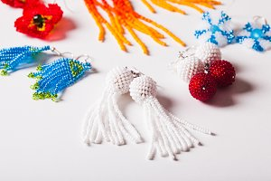 Beaded earrings - handmade jewelry