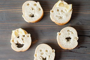 Faces from bread