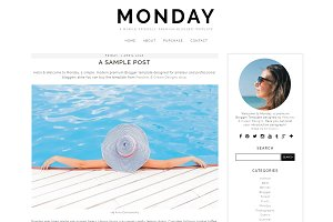 Monday - Pre-made Blogger Template