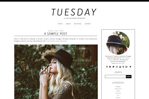 Tuesday - Pre-made Blogger Template