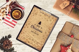 Christmas A4 Paper Mock-up #12
