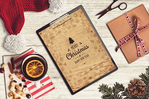Christmas A4 Paper Mock-up #13