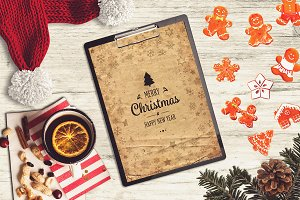 Christmas A4 Paper Mock-up #14