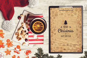 Christmas A4 Paper Mock-up #15