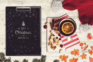 Christmas A4 Paper Mock-up #16