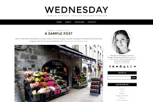 Wednesday - Pre-made Blogger Templat