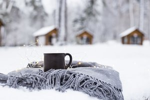 Winter coffee break concept