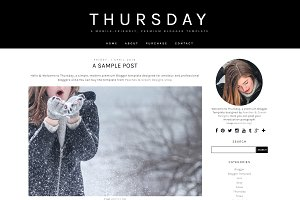 Thursday - Pre-made Blogger Template