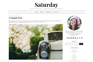 Saturday - Pre-made Blogger Template