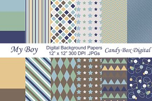 My Boy Digital Background Papers