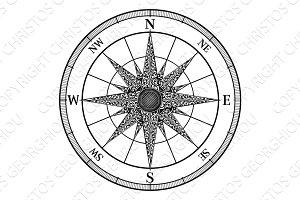 Compass Vintage Rose