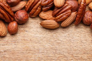 Nuts Set background