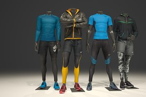 Male mannequin Nike pack 1
