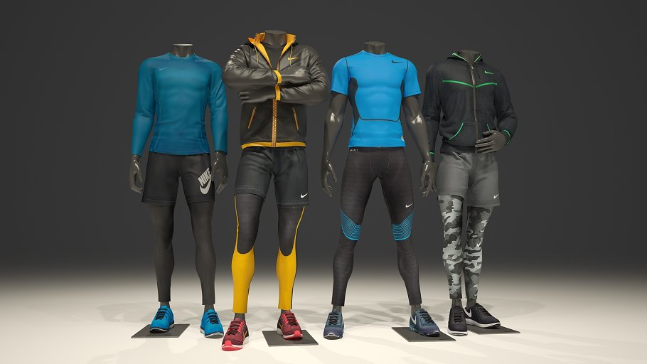 Male mannequin Nike pack 1 -Graphicriver中文最全的素材分享平台