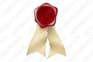 Guaranteed Wax Seal and ribbon