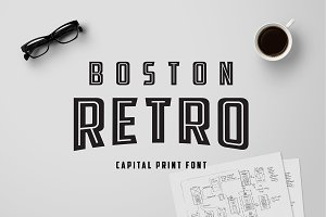 Boston Retro Print