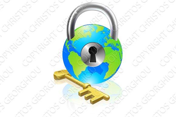 Lock And Key Globe