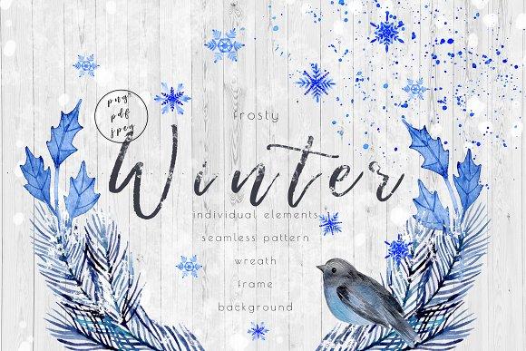 Watecolor Frosty Winter