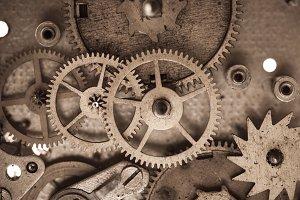 Mechanical watches macro