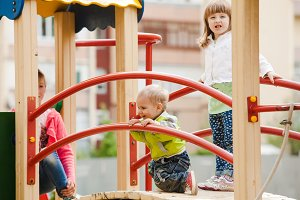 Children at the playground