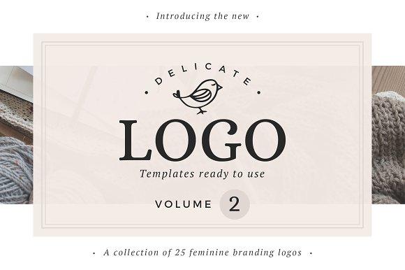 25 Delicate Feminine Logos - Vol 2