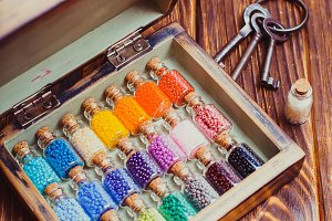 The colourful beads