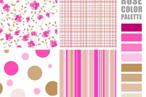 Fabric pattern. Set.