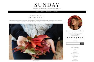 Sunday - Pre-made Blogger Template